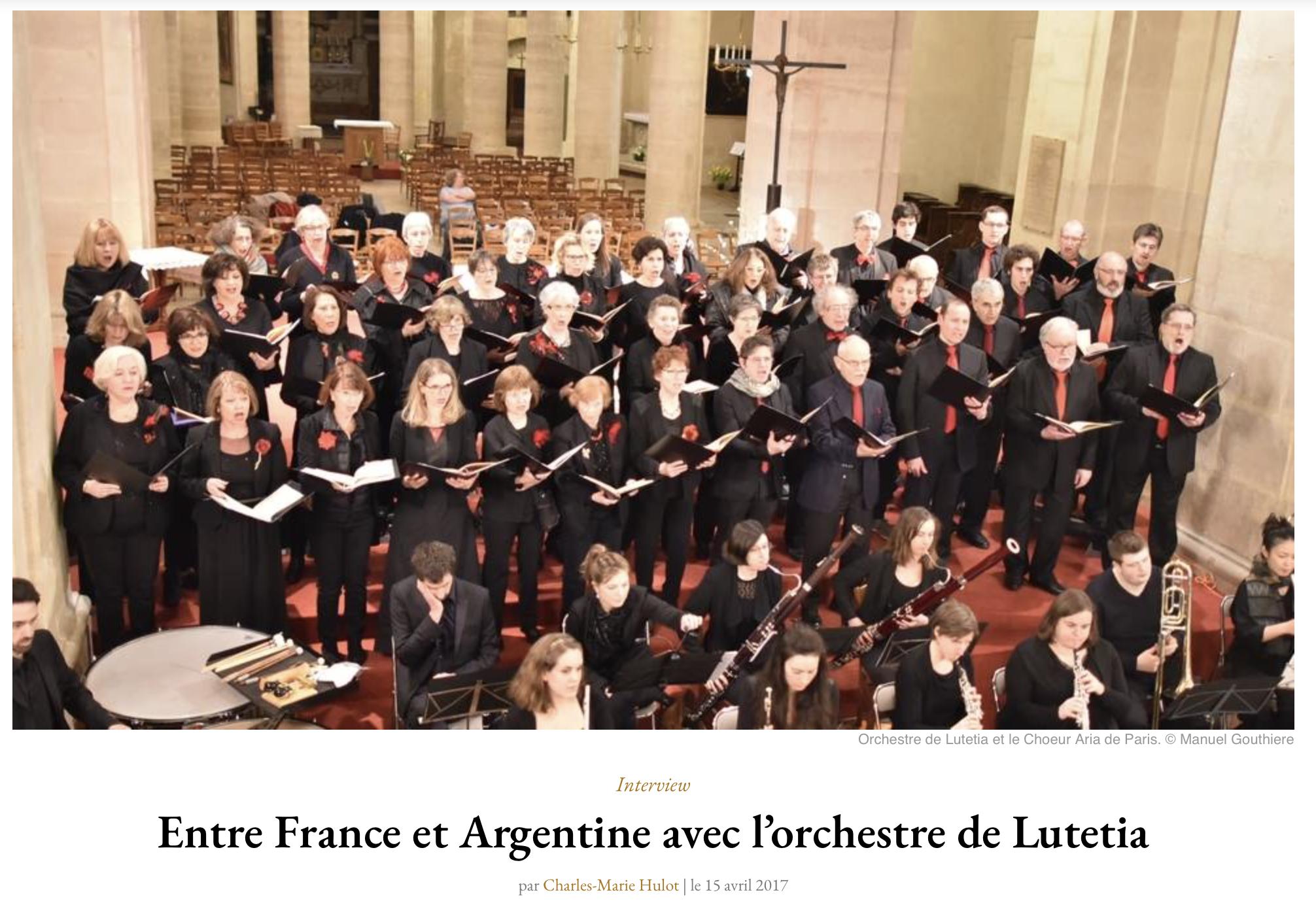 Concert  orchestre Lutetia