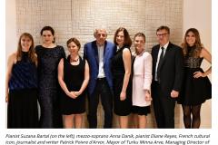 Embassade de Finlande avec Eliane Reyes et PPDA